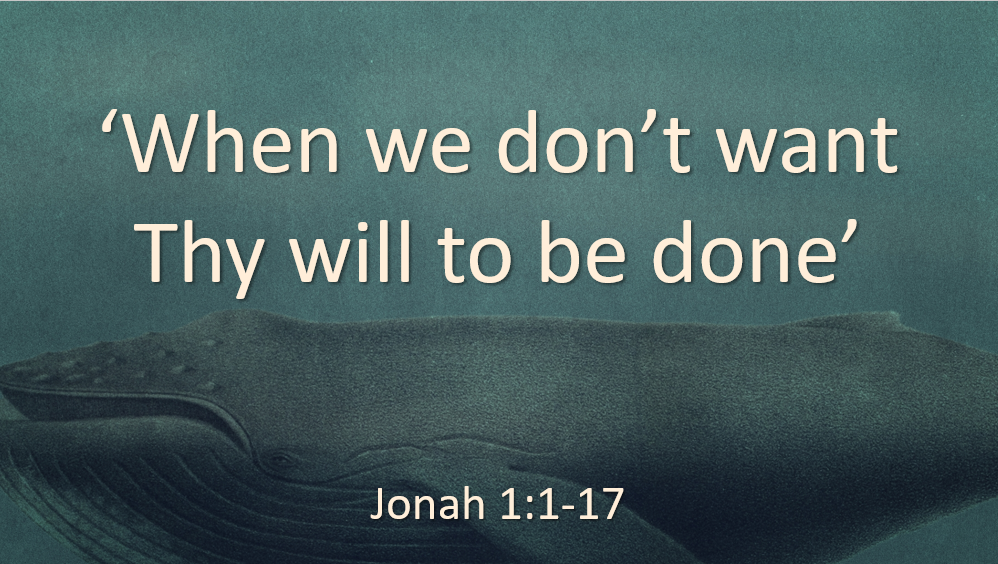 When we don't want Thy will to be done